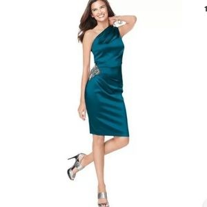 Eliza J one shoulder cocktail dress